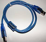 Кабель USB 2.0 A/B экранированный c фильтрами длина 1.5 м