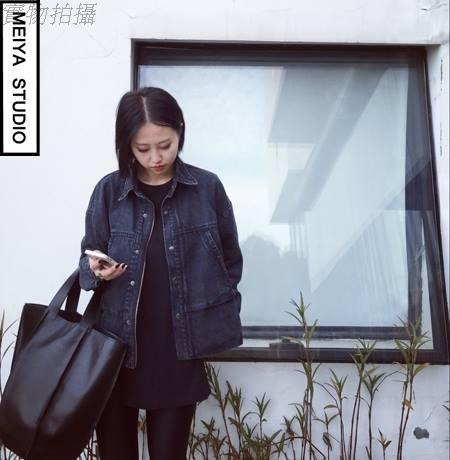 Черная свободная куртка