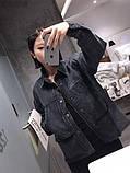 Черная свободная куртка, фото 6