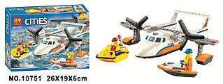 Конструктор Bela Citles 10751 Спасательный вертолет береговой охраны 153 детали (Аналог Lego City 60164)