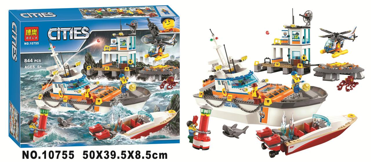 Конструктор Bela 10755 Штаб береговой охраны 844 детали (Аналог Lego City 60167)
