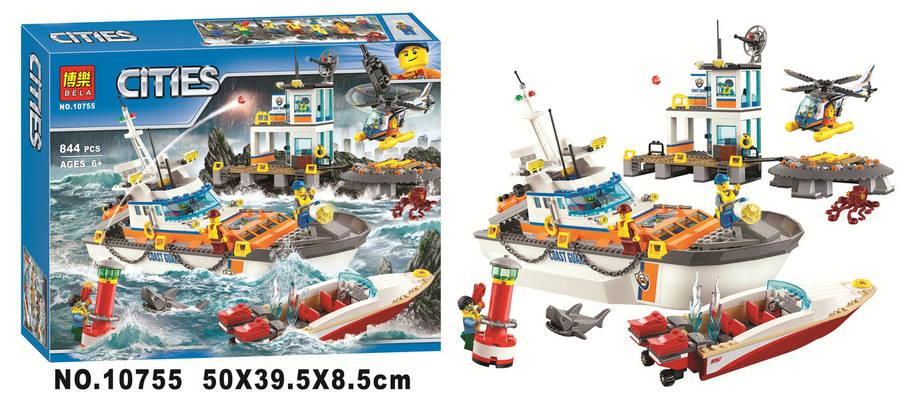 Конструктор Bela 10755 Штаб береговой охраны 844 детали (Аналог Lego City 60167), фото 2