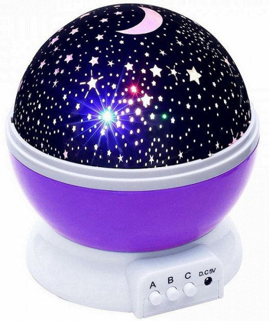Ночник проектор звездного неба шар Star Master Dream фиолетовый