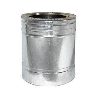 Труба дымоходная 0,25м нерж/оцинк ø110/180мм