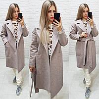 Пальто женское бежевого цвета, арт. 175