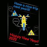 """Байкерская новогодняя футболка """"Have a nice trip"""" 2020, фото 4"""