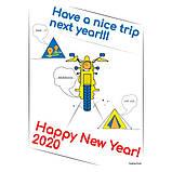 """Байкерская новогодняя футболка """"Have a nice trip"""" 2020, фото 3"""