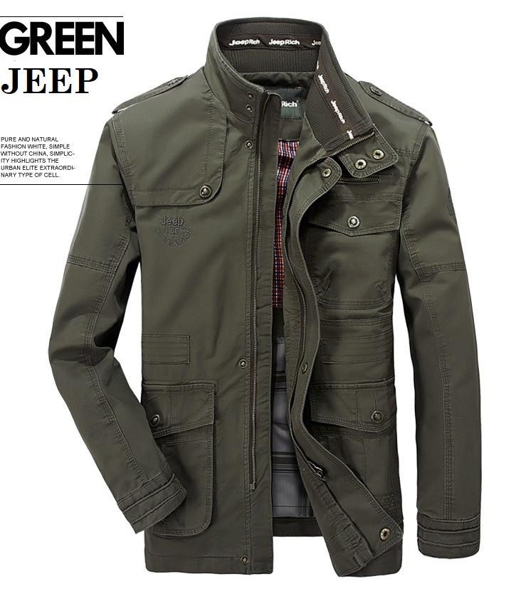 Jeep original 100% хлопок Мужская куртка в стиле милитари джип