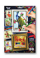 Раскраска по номерам карандашами DankoToys PBN-01-04 5 рисунков + 12 карандашей