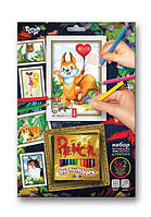 Раскраска по номерам карандашами DankoToys PBN-01-06 5 рисунков + 12 карандашей
