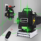 4D Лазерный уровень PRACMANU 16 линий для стяжки пола ➜ ПУЛЬТ ➜ Зеленые лучи ➜ ГАРАНТИЯ: 1 год, фото 7