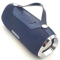 Беспроводная аккумуляторная колонка Bluetooth акустика FM MP3 AUX USB Hopestar H40 темно синяя, фото 1