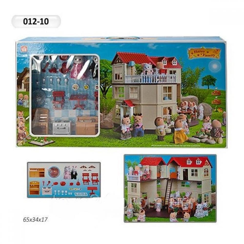 Домик флоксовые животные Happy Family 012-10