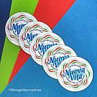 Изготовление фотомагнитов. Рекламный магнит на холодильник. Диаметр 68 мм, фото 4