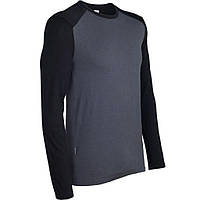 Термофутболка Icebreaker Tech Top LS Crewe MEN monsoon/black L (103 306 003 L)