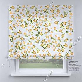 Римская фото штора цветочки Прованс. Бесплатная доставка. Инд.размер. Гарантия. Арт. 02-069