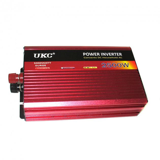 Инвертор авто преобразователь напряжения c функцией плавного пуска 12V в 220V AR 2500 Вт UKC