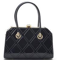 Женская лакированная сумка K-91798 black Сумки женские лакированные. Купить выгодно