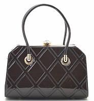 Женская лакированная сумка K-91798 coffee Сумки женские лакированные. Купить выгодно