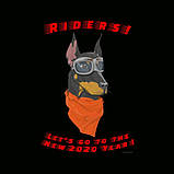 """Байкерська новорічна футболка """"Dog Riders"""" 2020, фото 4"""