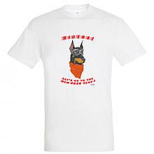 """Байкерская новогодняя футболка """"Dog Riders"""" 2020"""