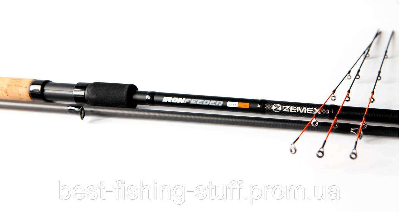 Фидерное удилище ZEMEX IRON Feeder 360см 90г Medium