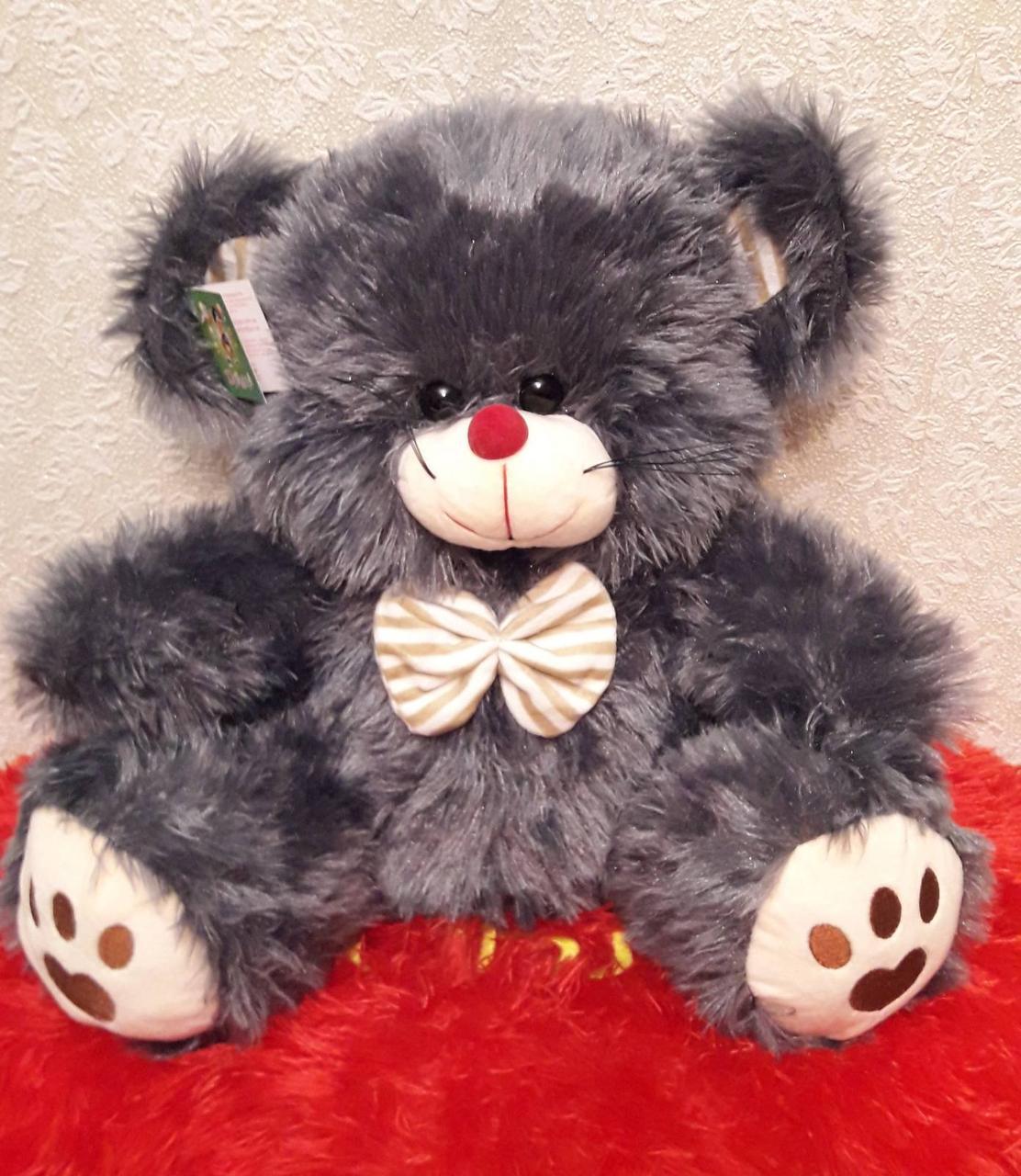 М'яка плюшева іграшка 45см Мишка (сіра)