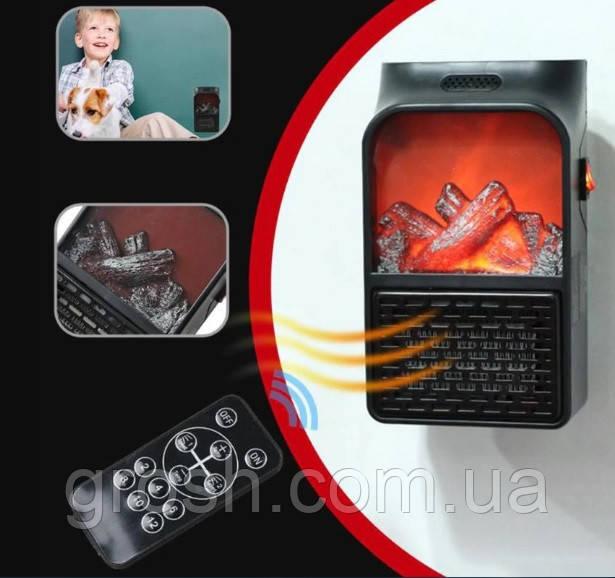 Компактный мини обогреватель-камин «Быстрое тепло»