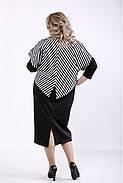 ❤/ Женское черное трикотажное платье с накидкой 01351 / Размер 42-72 / Батал, фото 4