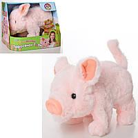 Мягкая игрушка MP 2074 (12шт) свинка21см,звук,ходит,двиг.хвостом и носом,бат,в кор-ке,21,5-17,5-17см