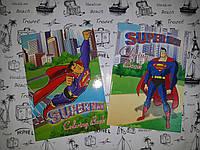 Расскраска детская А5 ( для мальчиков)  Super Man , цветной фон, 2 вида