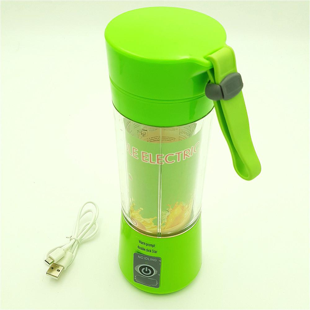 Фитнес Блендер аккумуляторный портативный для смузи и коктейлей 320 мл NG-02 зеленый
