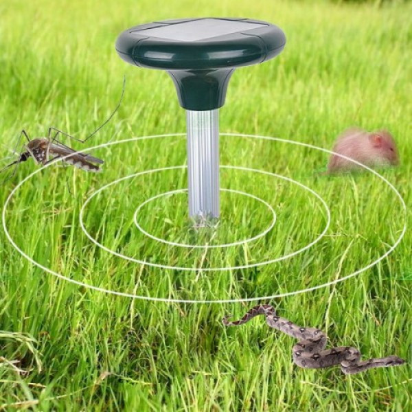 Отпугиватель грызунов кротов ультразвуковой аккумуляторный на солнечной батареи Solar Rodent Repeller