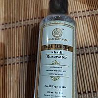 Тоник для кожи Розовая вода Кхади, Rosewater Herbal Skin Toner Khadi, 210 мл