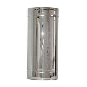 Труба дымоходная 0,5м нерж/нерж ø200/260мм