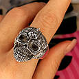 Серебряное кольцо Череп, фото 8