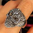 Серебряное кольцо Череп, фото 7