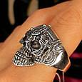 Серебряное кольцо Череп, фото 6