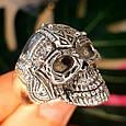Серебряное кольцо Череп, фото 4