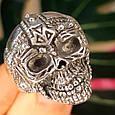 Серебряное кольцо Череп, фото 3
