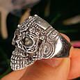 Серебряное кольцо Череп, фото 2