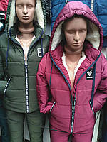 Женский зимний очень теплый  костюм  44 по 54р.