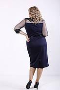 ❤/ Женское темно-синее элегантное платье 01348 / Размер 42-72 / Батал, фото 4