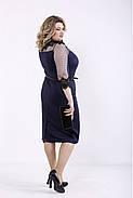 ❤/ Женское темно-синее элегантное платье 01348 / Размер 42-72 / Батал, фото 3