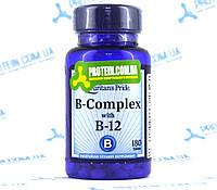 Витамины Puritans Pride B-Complex and B-12 180 таб