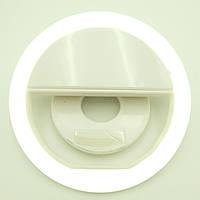 Кольцо для селфи с аккумулятором зарядка от USB 5 Вт 39 Led Selfie Ring light Белый, фото 1