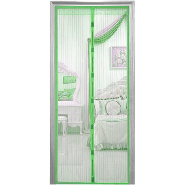 Антимоскитная штора на дверь на магнитах сетка москитная Magic Mesh 200 х 100 см зеленая