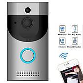 Домофон беспроводной с системой видеонаблюдения Wi-Fi 720p видеодомофон iOS и Android Smart Doorbell B30
