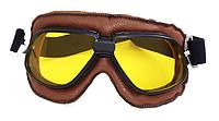 Винтажные очки KSmoto GL-20 (желтая линза) \ Код KS05025