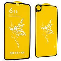 Защитное стекло Premium 6D для iPhone Xr (2 в 1) Черный